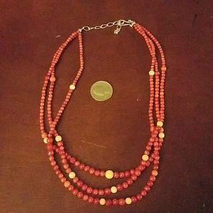 Jay king drt sterling and coral necklace